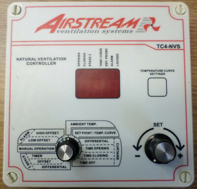 Airstream TC4-NVS Natural Ventilation Control Front Panel - 90 Day Warranty