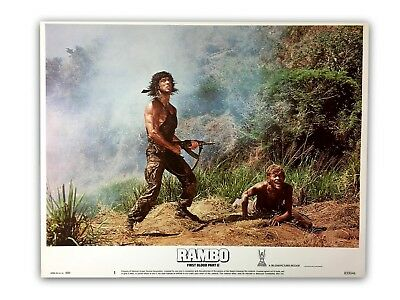 """""""rambo First Blood Pt. 2"""" Original 11X14 Authentic Lobby Card Poster Photo 1985"""