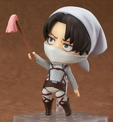 "4"" Attack on Titan Figure Levi Ackerman Clean Shingeki no Kyojin Fun Gift Anime"