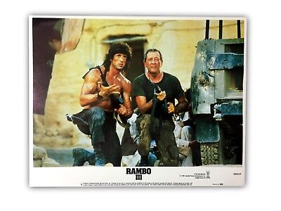 """""""rambo Iii"""" Original 11X14 Authentic Lobby Card Poster Poster 1988 #2 Stallone 3"""