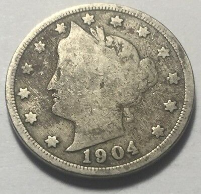 United States 1904 Liberty Head Five Cents (Nickel) Coin