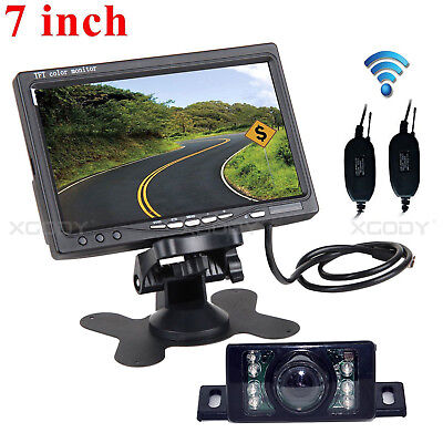 """7"""" Rear View Monitor + Wireless Reversing Parking Camera For Carava Vehicle"""