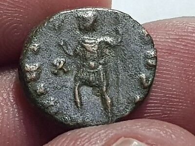 Superb Uncertain Rare Ancient Roman Bronze Ae Coin 3,1 Gr.17 Mm