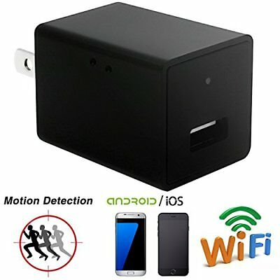Wifi Spy Camera Charger Adapter,ESROVER HD 1080P USB Wall Charger Hidden Camera