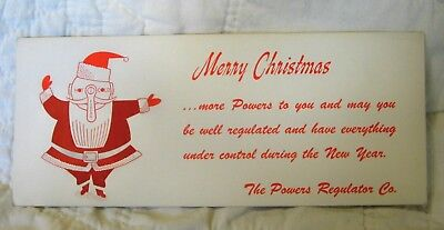 Estate Sale ~ Vintage Advertising Christmas Ink Blotter - The Power Regulator Co