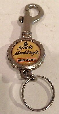 Vintage Spuds Mackenzie 80's Bud Light Beer Ad Keychain Key Ring Bottle Opener