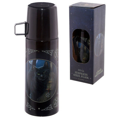Lisa Parker Cat Stainless Steel Flask A Brush With Magic - Brand New In Box