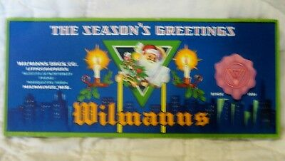 Estate Sale ~ Vintage Advertising Christmas Ink Blotter - Wilmanns Bros. Co.
