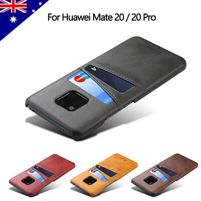 For Huawei P30 P20  Mate 20 Pro Slim Leather Credit Card Slot Case Back Cover