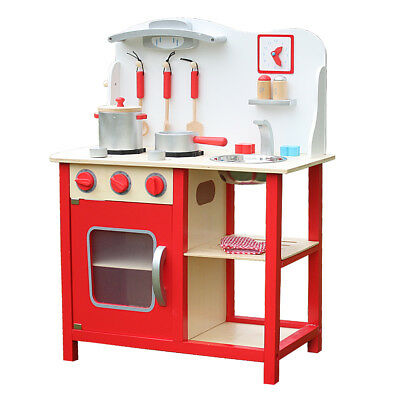 KIDS WOODEN KITCHEN Playset, Kids Wood Toy, Little Chef Pretend Cooking  Play Set