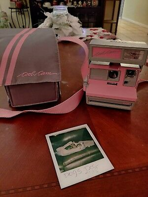 Polaroid 600 Cool Cam Pink & Gray Instant Camera Matching Carry Bag Tested