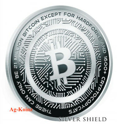 1 oz 2018 Bitcoin Cash Proof - Crypto Series #2 Silver Shield 999 Blockchain