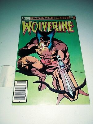 Wolverine Limited Series  1 #4 (1982) VF/NM? Marvel Comics Frank Miller art