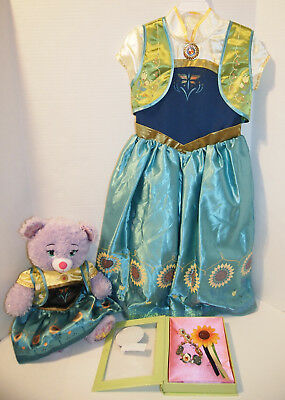 Frozen Fever ANNA Deluxe Costume 5/6, Jewelry Accessories & Build-A-Bear Plush