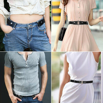 Buckle-free Elastic Unisex Comfortable Invisible Belt fr Jeans No Bulge Hassle M