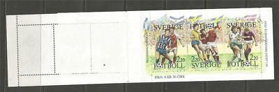 SWEDEN - 1988 Football   -  COMPLETE BOOKLET - 1 BOOKLET PANE USED - 1 MINT.