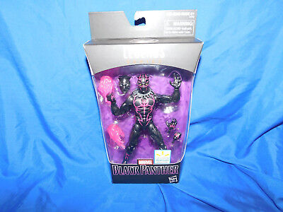 "Hasbro Marvel Legends Black Panther Walmart 6"" Pink Flames New & Sealed"
