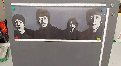 "Vintage Original 1967 Nems The Beatles Richard Avedon Poster John Lennon 40""x15"""