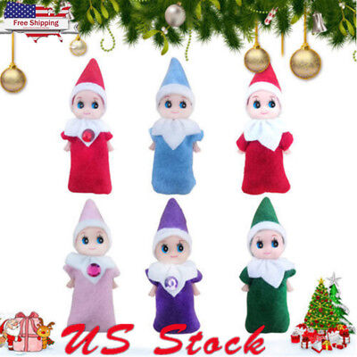 Elf on the Shelf Santa Baby Plush Toy Christmas Plush Doll Boy Girl Figure Decor