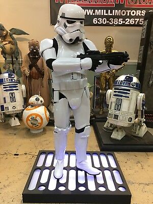 Life Size Star Wars Stormtrooper with Blaster Full Size 1:1 Prop Statue