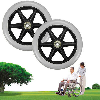 2Pcs Caster Wheel With Bearing for Rollator Walker Replacement Parts