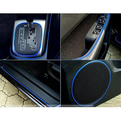 5M CAR Universal Interior Decorative Blue Strip CHROME Shiny AUTO ACCESSORIES