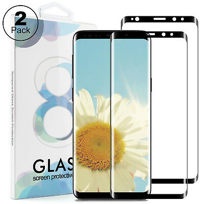 2x 3D Schutzglas für Samsung Galaxy S8 Panzerfolie Full Screen Display Hart Glas