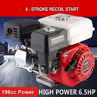 Electric Start 6.5HP OHV Stationary Petrol Engine Horizontal Shaft 1 Year Warrnt