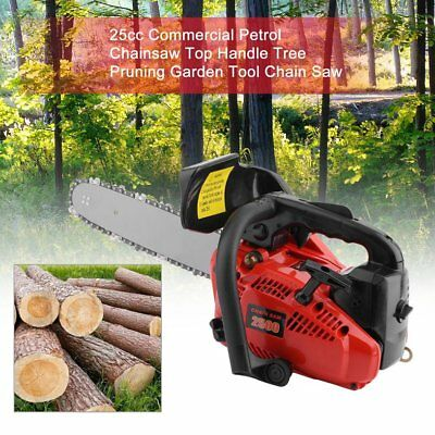 """NEW 25cc Commercial Petrol Chainsaw 12"""" Bar Tree Pruning Garden Chain Saw HOT"""