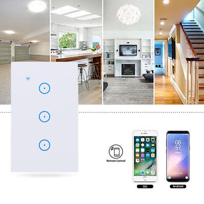 1/2/3 Gang Smart LED Light Dimmer WiFi Wall Touch Switch For Alexa Google Home