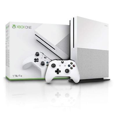 Microsoft Xbox One S White Gaming Console Fully Working - Comes with Controller.