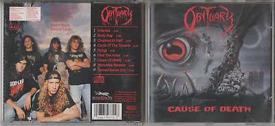 Obituary - Cause Of Death - RoadRunner Records 1990