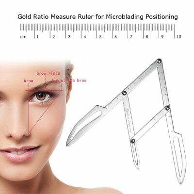 Makeup Tattoo Eyebrow Tool Brow Shaping Stencil Measure Template -I