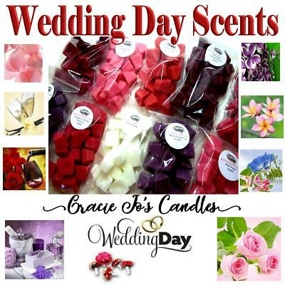 40 pc Wax Tart Melts WEDDING DAY SCENTS 8oz Chunks Chips Crumbles Party Favors
