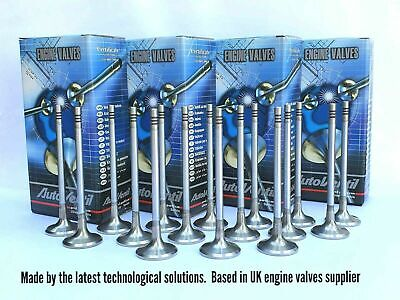 16 Exhaust VALVES FIT TO Audi A8 Quattro TDI 3.3 057109611 Eng. AKF Turbo