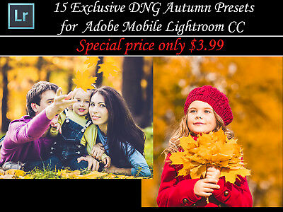15 Exclusive DNG Autumn Presets for Adobe Mobile Lightroom CC