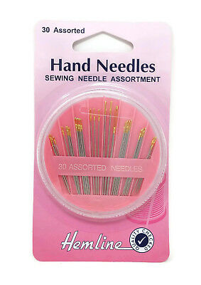 Hemline 30 Assorted Compact Hand Sewing Needles