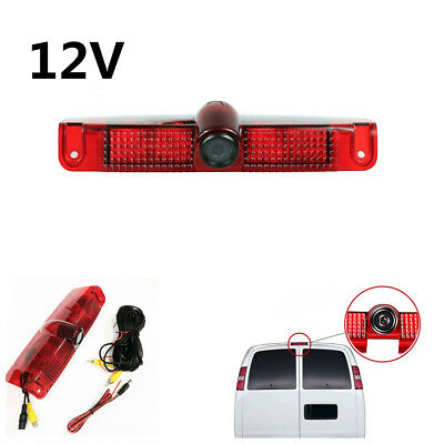 12VCar Brake Light Backup Camera Waterproof For Chevrolet Express Van GMC Savana