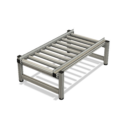 Roller conveyor - NEW, UK Made to your specs, any size, aluminium, price per mtr