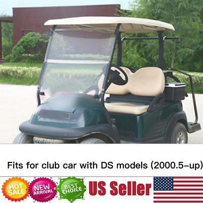 CLUB CAR DS Clear Folding Down Acrylic Windshield 2000 5 - Up Golf Cart  Parts US