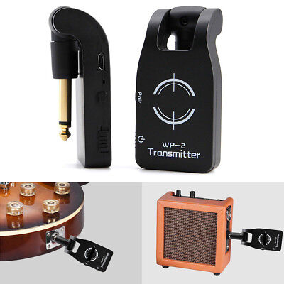 2.4GHZ Wireless USB Rechargeable Electric Guitar System Transmitter Receiver