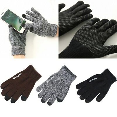 Hot Mens Women Thermal Insulation Touch Screen Winter Warm Gloves For Smartphone