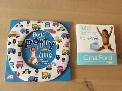 2 x Boys Potty Trainng Books..Gina Ford (New) And Boys Potty Time By DK