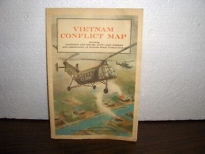 1960's Era Vietnam Conflict Map By C.s. Hammond And Company.