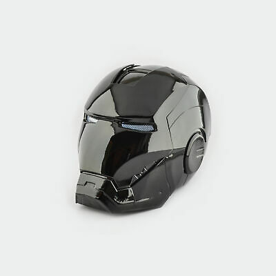 Iron Man MK7 Helmet Black Edition Collectable 1:1 Scale Wearable Open Close