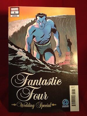 Fantastic Four Wedding Special 2018 Marvel Comics Martin Villains Variant Namor
