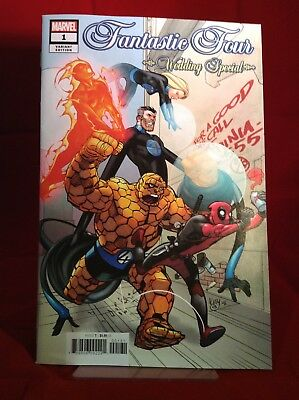 Fantastic Four Wedding Special 2018 Marvel Comics Ferry Variant Deadpool