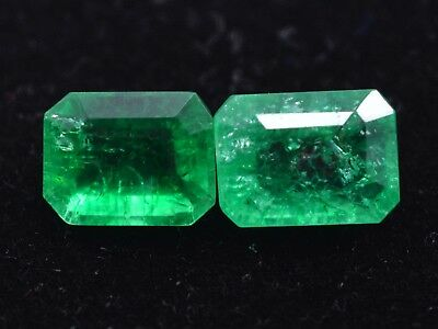 Natural Green Emerald Loose Gemstone 3 to 3 cts 2 Pair GGL Certified Best Offer
