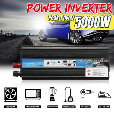 3000W 4000W 5000W Car Solar Power Inverter 12V to 110V 220V Sine Wave Converter