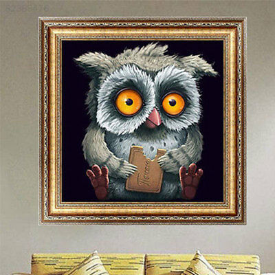 91E5 Painting Mosaic Home 5D Owl Diamond Embroidery Fashion Fashion Decor Wall